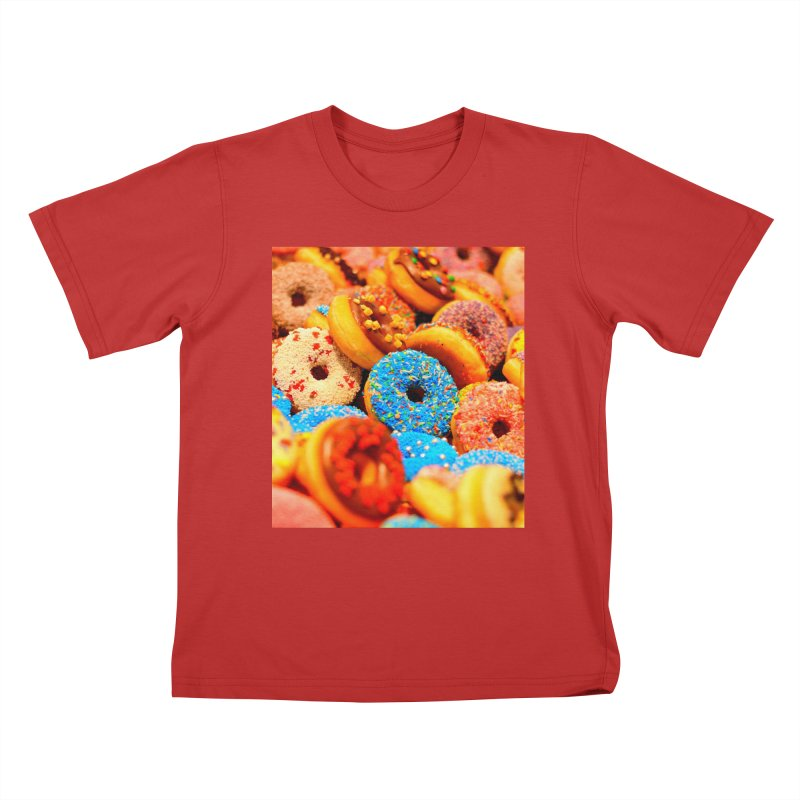 DONUTS Kids T-Shirt by THE ORANGE ZEROMAX STREET COUTURE