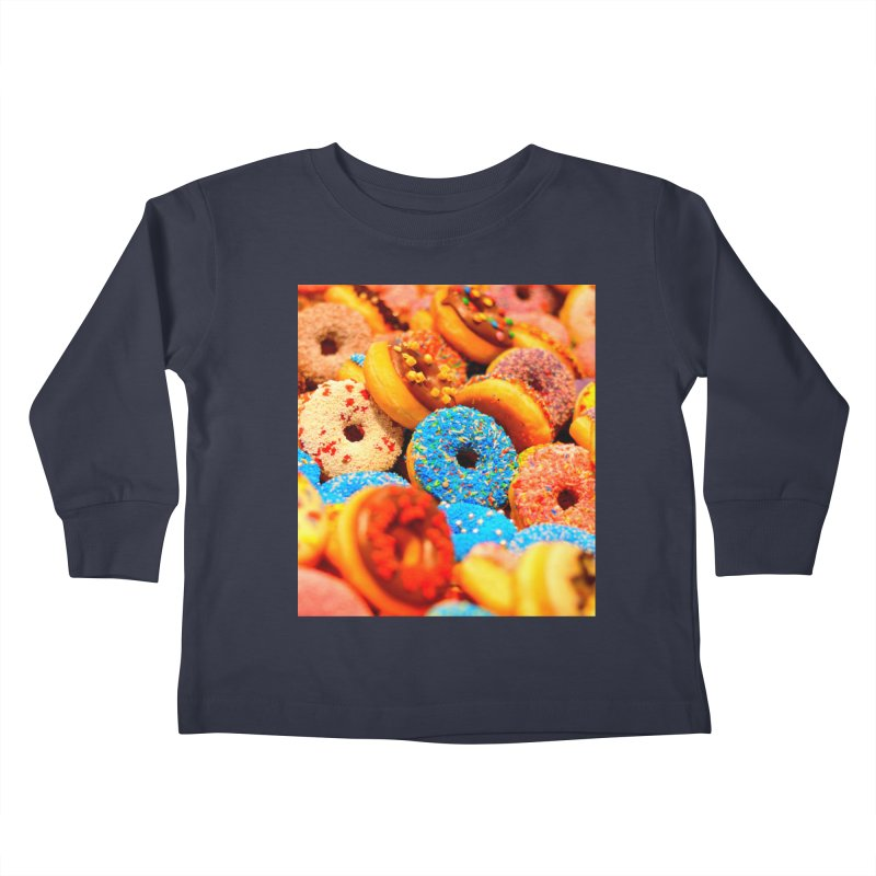 DONUTS Kids Toddler Longsleeve T-Shirt by THE ORANGE ZEROMAX STREET COUTURE