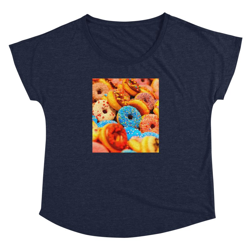 DONUTS Women's Dolman Scoop Neck by THE ORANGE ZEROMAX STREET COUTURE