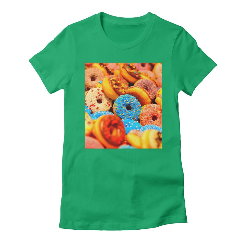 DONUTS Women's Fitted T-Shirt by THE ORANGE ZEROMAX STREET COUTURE