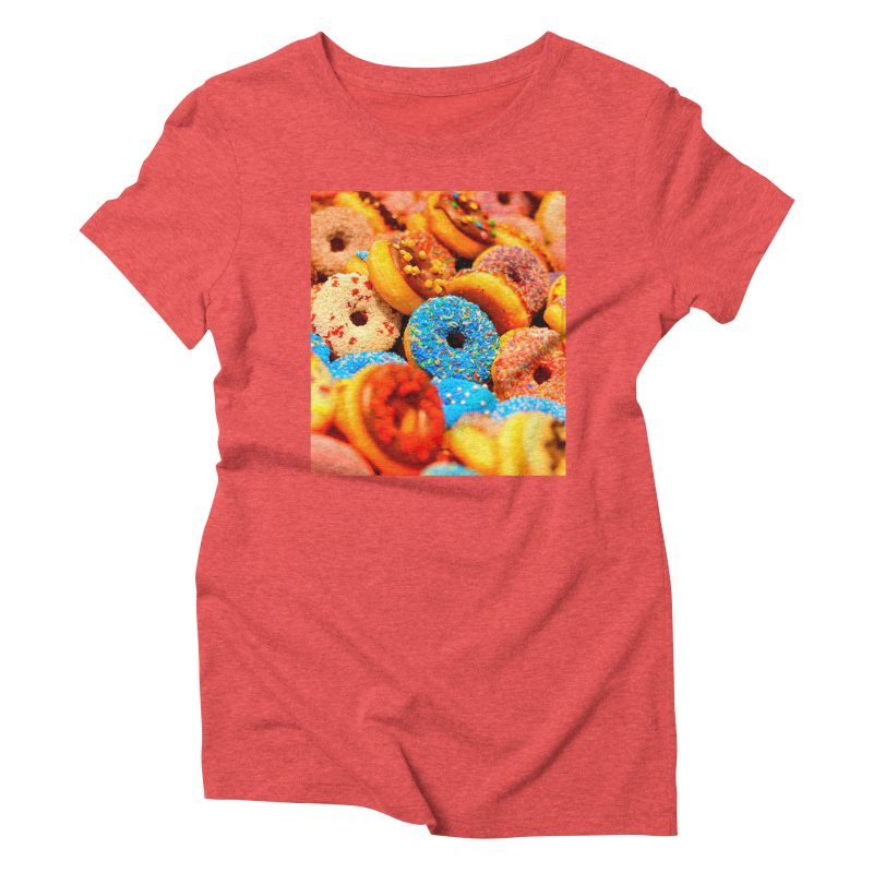 DONUTS Women's Triblend T-Shirt by THE ORANGE ZEROMAX STREET COUTURE
