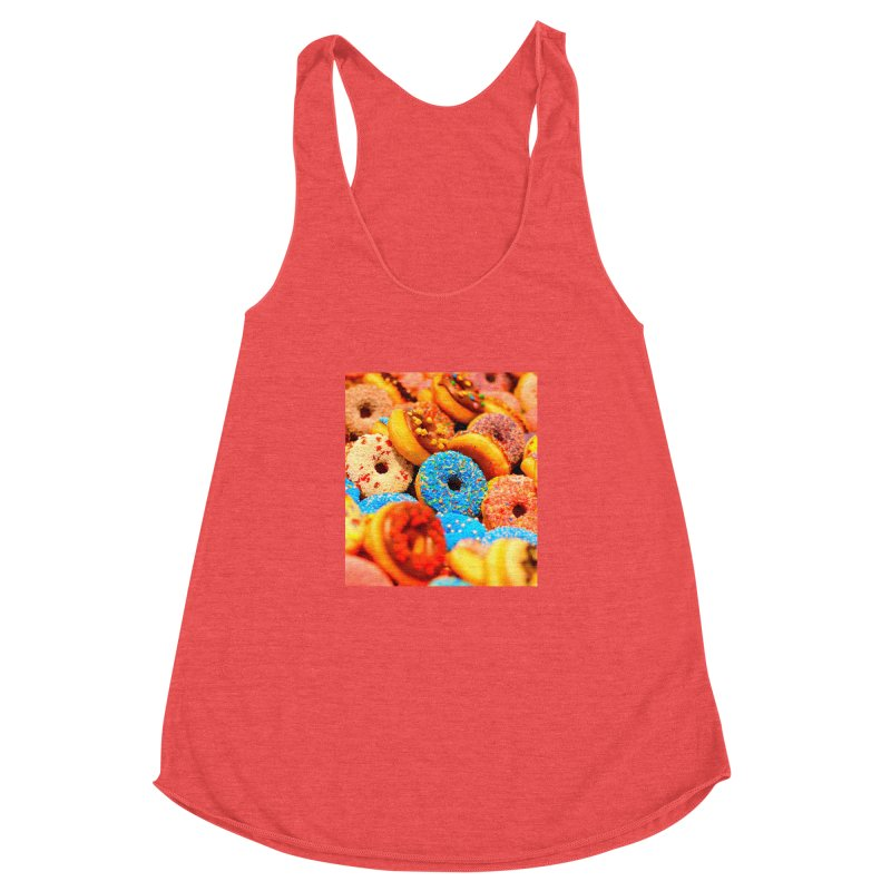 DONUTS Women's Racerback Triblend Tank by THE ORANGE ZEROMAX STREET COUTURE