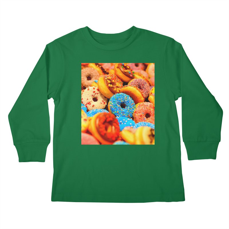 DONUTS Kids Longsleeve T-Shirt by THE ORANGE ZEROMAX STREET COUTURE