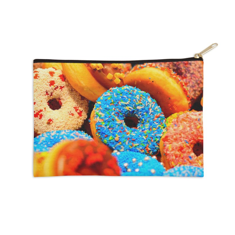 DONUTS Accessories Zip Pouch by THE ORANGE ZEROMAX STREET COUTURE