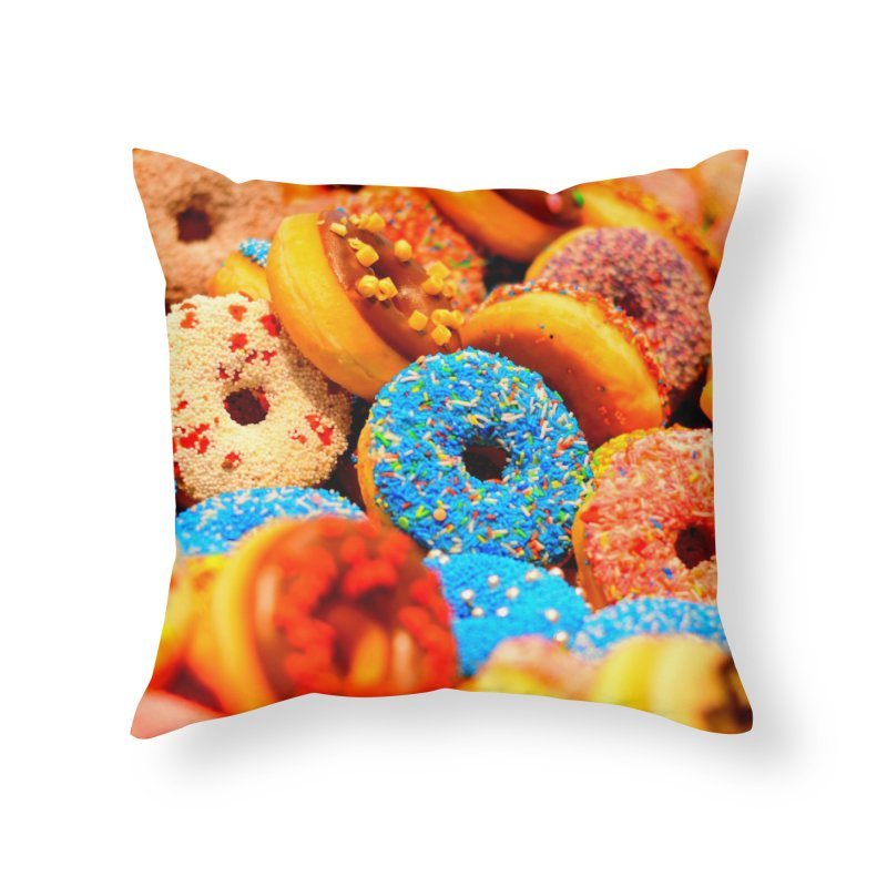 DONUTS Home Throw Pillow by THE ORANGE ZEROMAX STREET COUTURE