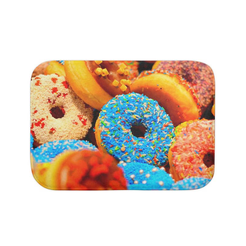 DONUTS Home Bath Mat by THE ORANGE ZEROMAX STREET COUTURE