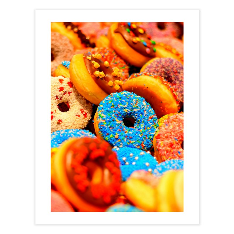 DONUTS Home Fine Art Print by THE ORANGE ZEROMAX STREET COUTURE
