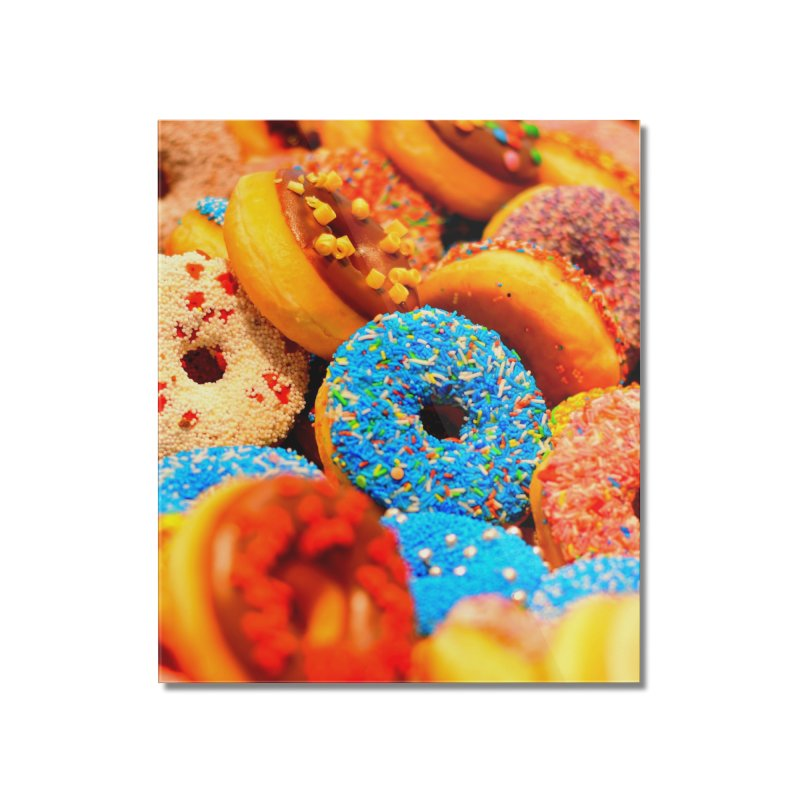 DONUTS Home Mounted Acrylic Print by THE ORANGE ZEROMAX STREET COUTURE