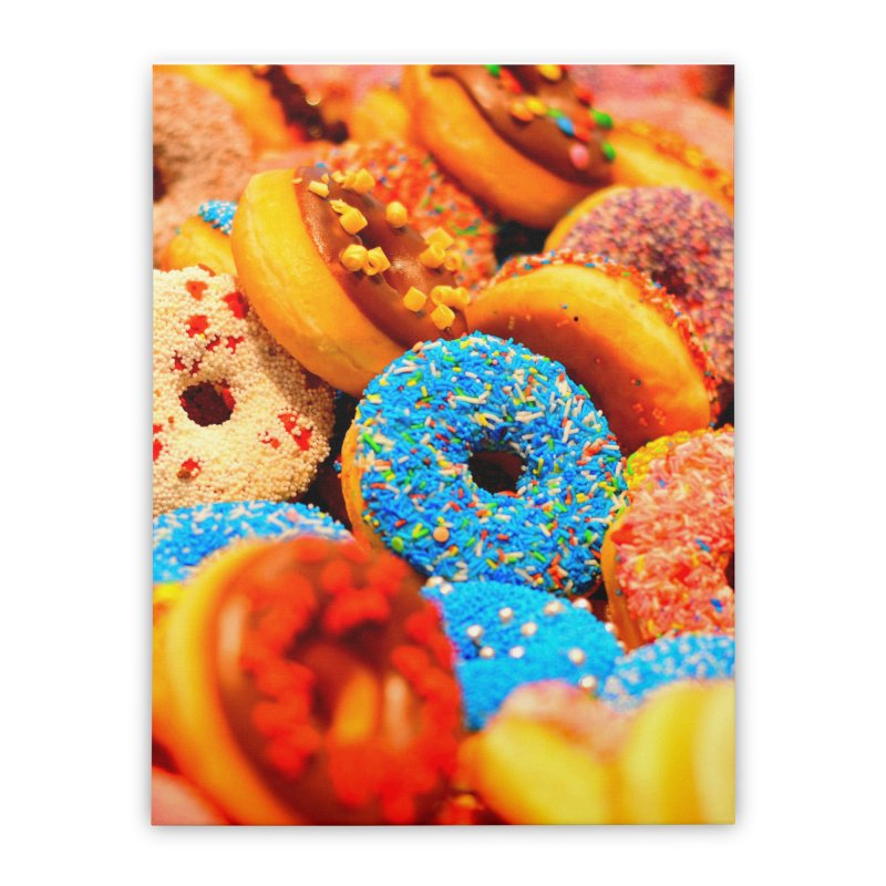 DONUTS Home Stretched Canvas by THE ORANGE ZEROMAX STREET COUTURE