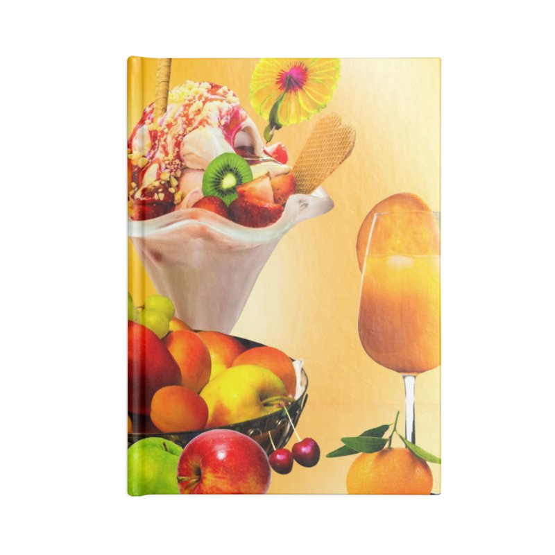 SUMMER FRUIT,ICE CREAM AND ORANGE JUICE Accessories Notebook by THE ORANGE ZEROMAX STREET COUTURE