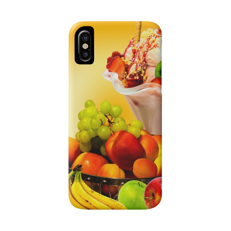 SUMMER FRUIT,ICE CREAM AND ORANGE JUICE Accessories Phone Case by THE ORANGE ZEROMAX STREET COUTURE
