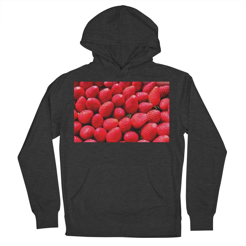 STRAWBERRIES Women's French Terry Pullover Hoody by THE ORANGE ZEROMAX STREET COUTURE