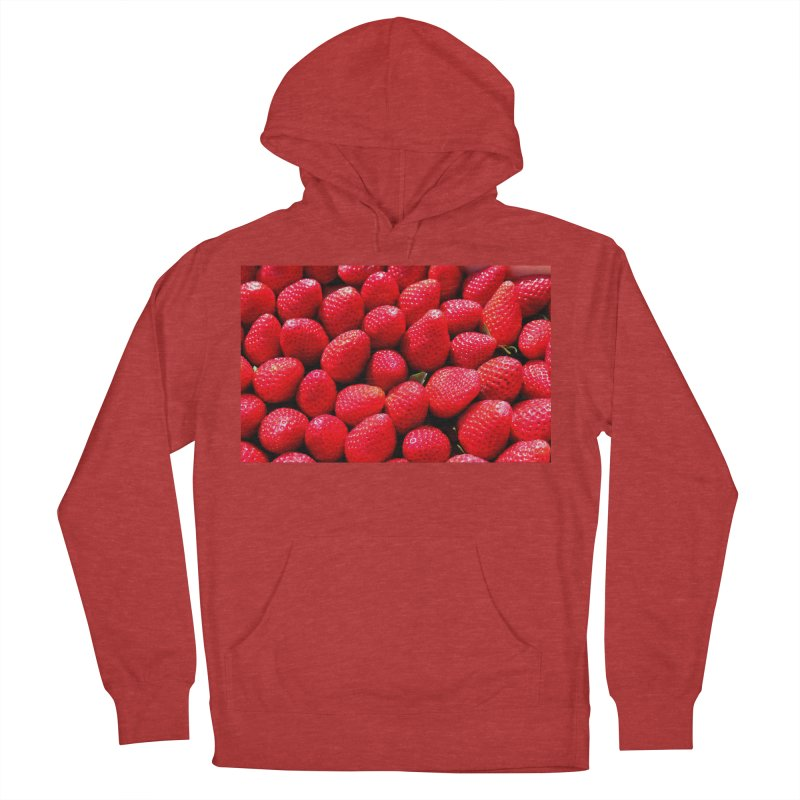 STRAWBERRIES Men's French Terry Pullover Hoody by THE ORANGE ZEROMAX STREET COUTURE