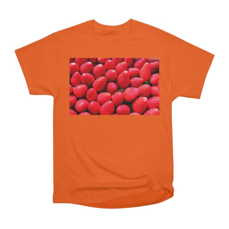 STRAWBERRIES Men's Heavyweight T-Shirt by THE ORANGE ZEROMAX STREET COUTURE