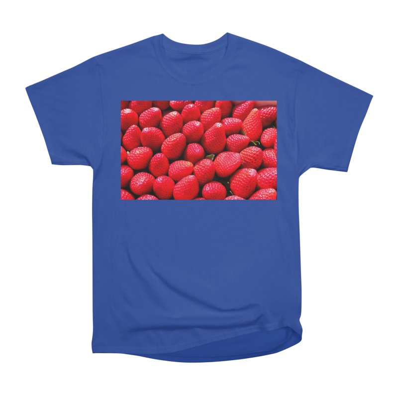 STRAWBERRIES Men's Heavyweight T-Shirt by THE ORANGE ZEROMAX STREET COUTURE