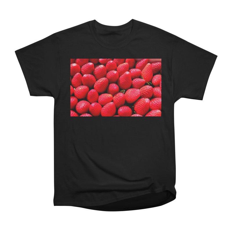 STRAWBERRIES Women's Heavyweight Unisex T-Shirt by THE ORANGE ZEROMAX STREET COUTURE