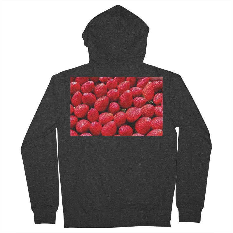 STRAWBERRIES Women's French Terry Zip-Up Hoody by THE ORANGE ZEROMAX STREET COUTURE