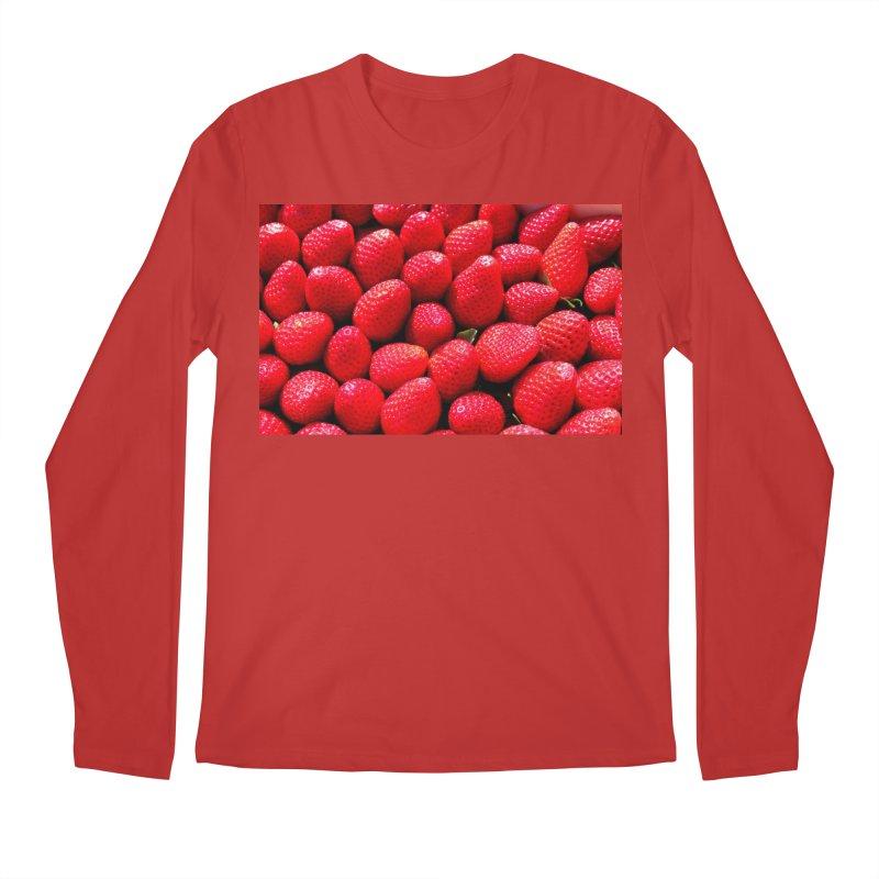 STRAWBERRIES Men's Regular Longsleeve T-Shirt by THE ORANGE ZEROMAX STREET COUTURE