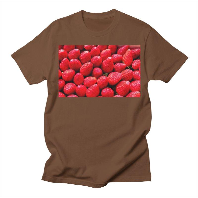 STRAWBERRIES Men's Regular T-Shirt by THE ORANGE ZEROMAX STREET COUTURE
