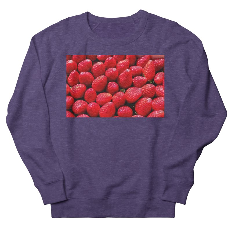 STRAWBERRIES Men's French Terry Sweatshirt by THE ORANGE ZEROMAX STREET COUTURE