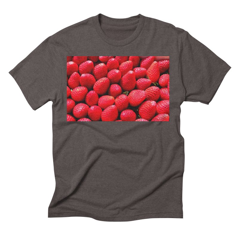 STRAWBERRIES Men's Triblend T-Shirt by THE ORANGE ZEROMAX STREET COUTURE