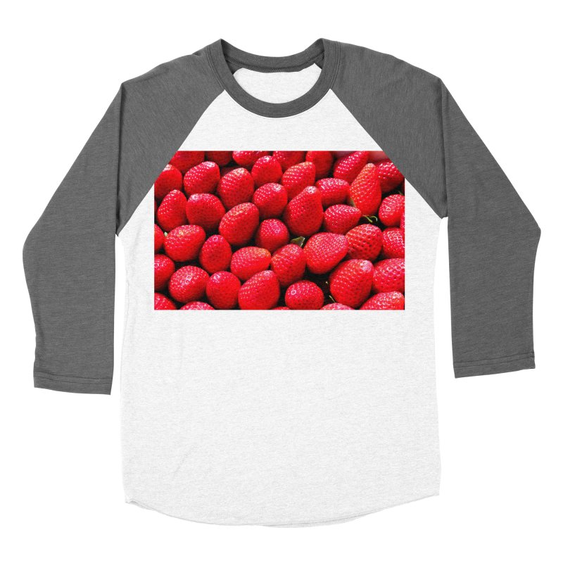STRAWBERRIES Women's Longsleeve T-Shirt by THE ORANGE ZEROMAX STREET COUTURE