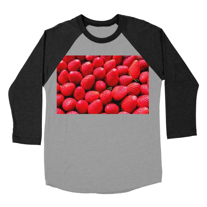 STRAWBERRIES Women's Baseball Triblend Longsleeve T-Shirt by THE ORANGE ZEROMAX STREET COUTURE