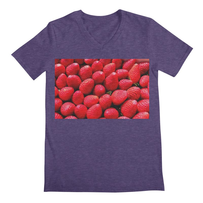 STRAWBERRIES Men's V-Neck by THE ORANGE ZEROMAX STREET COUTURE