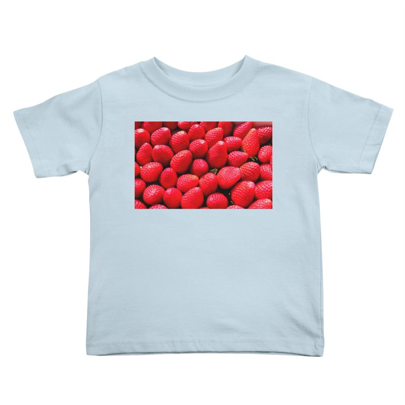 STRAWBERRIES Kids Toddler T-Shirt by THE ORANGE ZEROMAX STREET COUTURE