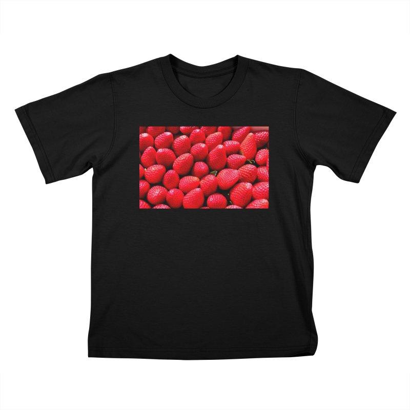 STRAWBERRIES Kids T-Shirt by THE ORANGE ZEROMAX STREET COUTURE