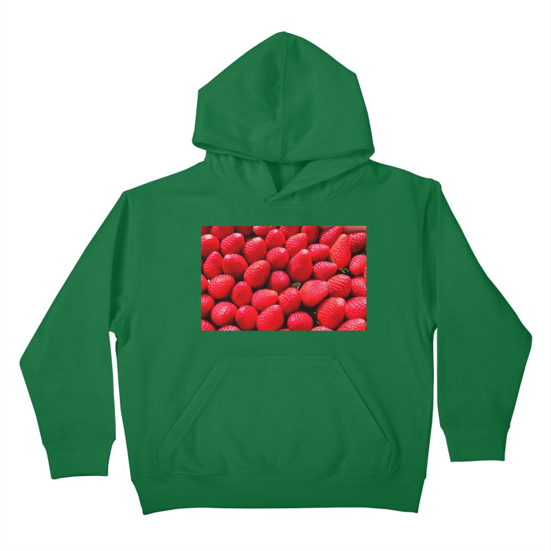 STRAWBERRIES Kids Pullover Hoody by THE ORANGE ZEROMAX STREET COUTURE