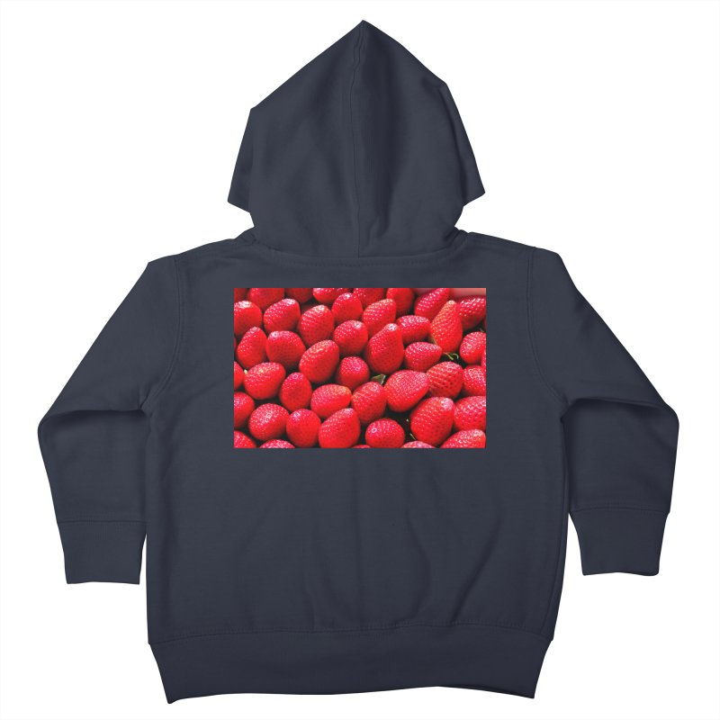 STRAWBERRIES Kids Toddler Zip-Up Hoody by THE ORANGE ZEROMAX STREET COUTURE