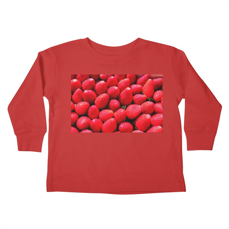 STRAWBERRIES Kids Toddler Longsleeve T-Shirt by THE ORANGE ZEROMAX STREET COUTURE