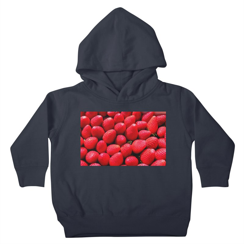STRAWBERRIES Kids Toddler Pullover Hoody by THE ORANGE ZEROMAX STREET COUTURE