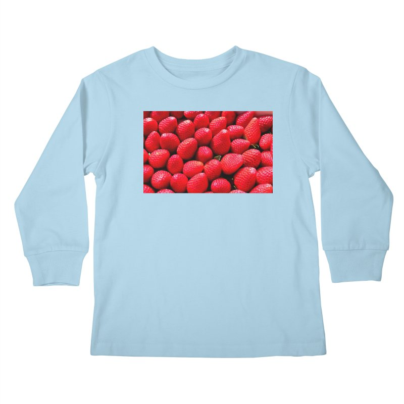 STRAWBERRIES Kids Longsleeve T-Shirt by THE ORANGE ZEROMAX STREET COUTURE