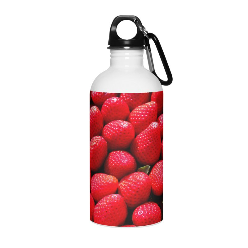 STRAWBERRIES Accessories Water Bottle by THE ORANGE ZEROMAX STREET COUTURE