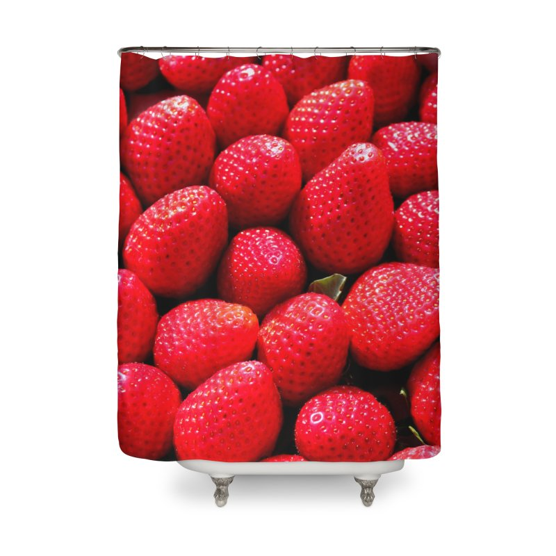 STRAWBERRIES Home Shower Curtain by THE ORANGE ZEROMAX STREET COUTURE