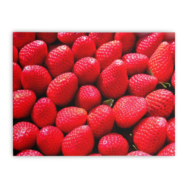 STRAWBERRIES Home Stretched Canvas by THE ORANGE ZEROMAX STREET COUTURE