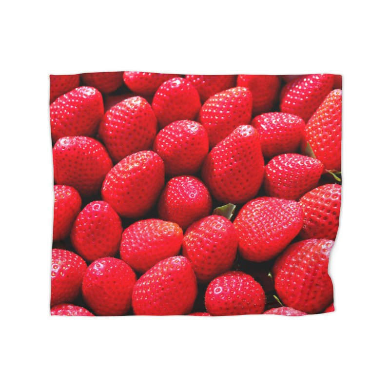 STRAWBERRIES Home Blanket by THE ORANGE ZEROMAX STREET COUTURE