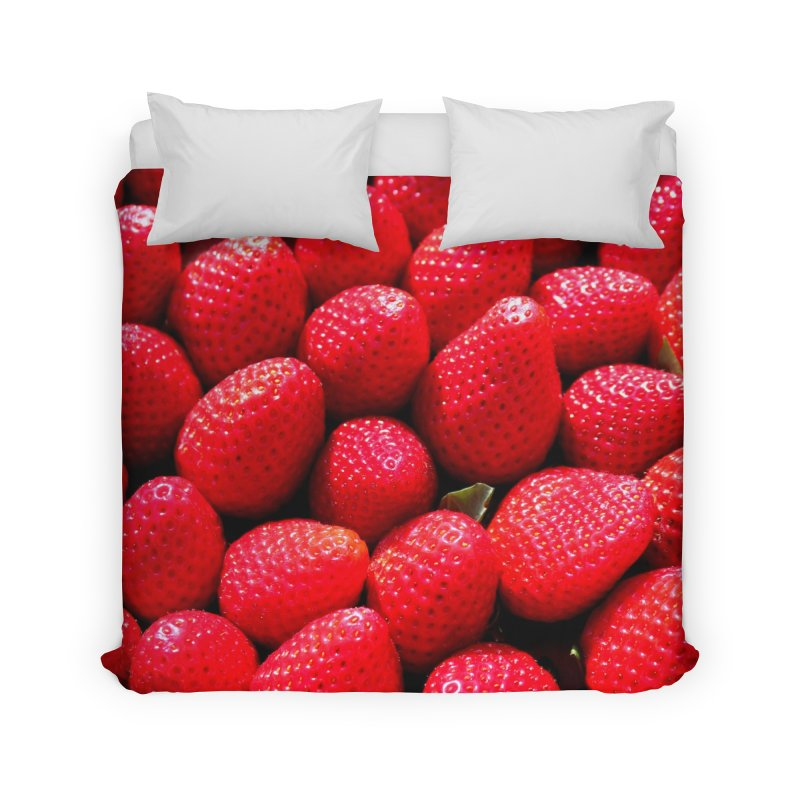 STRAWBERRIES Home Duvet by THE ORANGE ZEROMAX STREET COUTURE