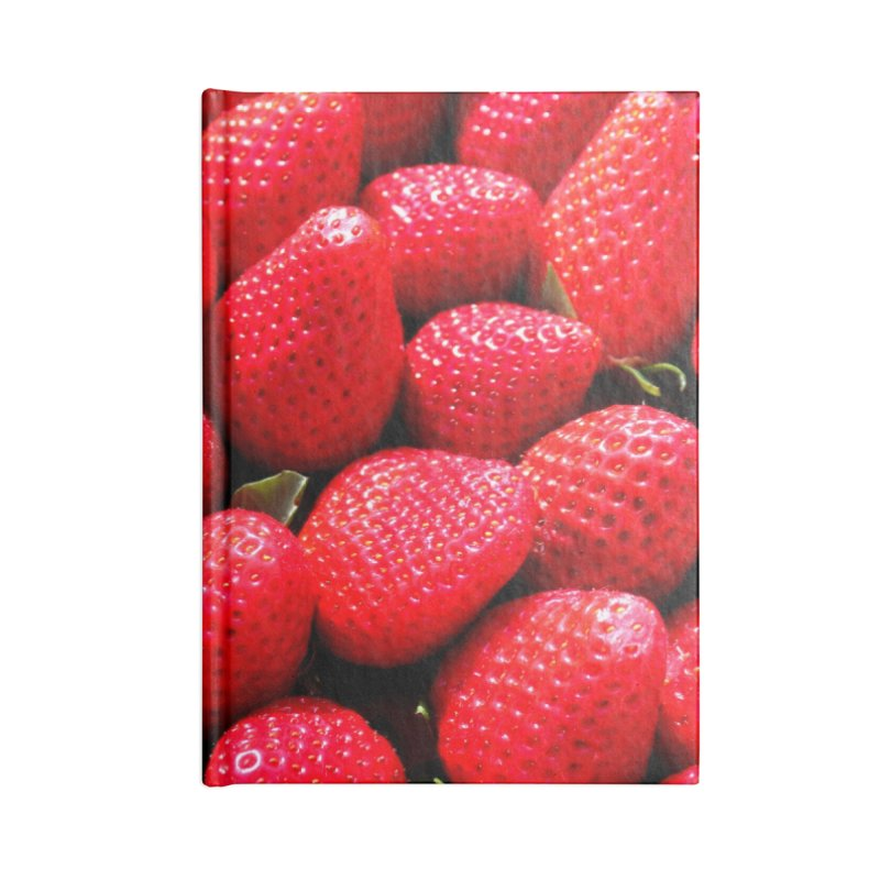 STRAWBERRIES Accessories Notebook by THE ORANGE ZEROMAX STREET COUTURE