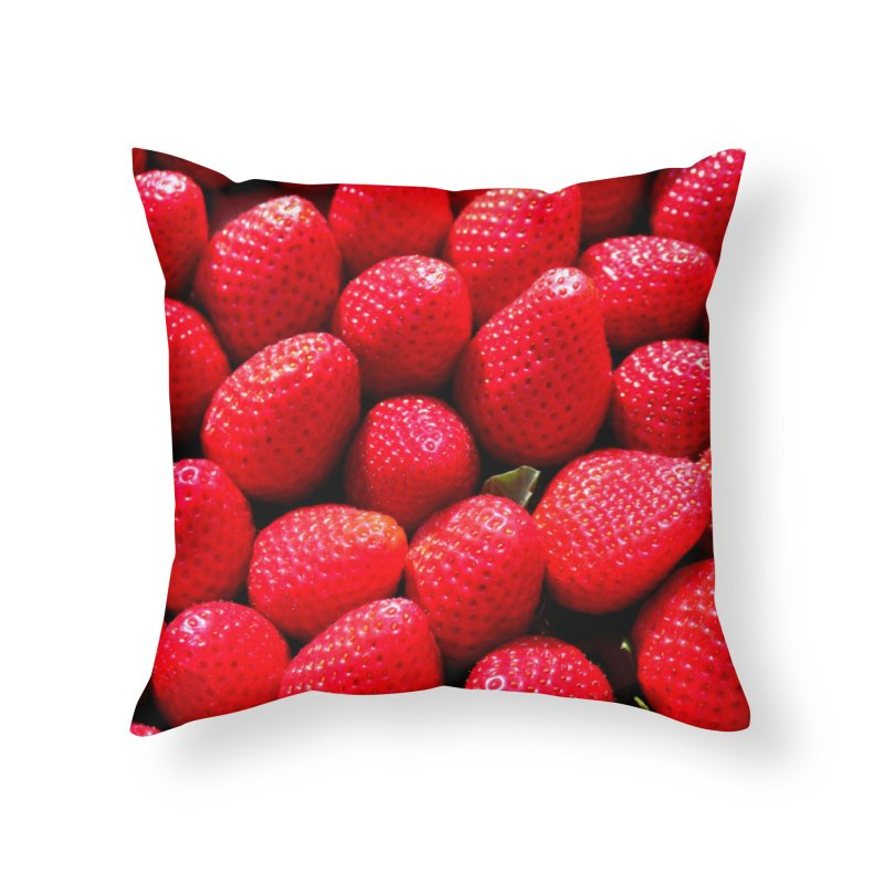 STRAWBERRIES Home Throw Pillow by THE ORANGE ZEROMAX STREET COUTURE