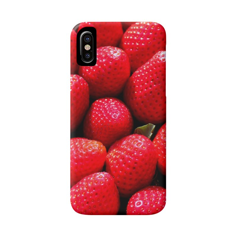 STRAWBERRIES Accessories Phone Case by THE ORANGE ZEROMAX STREET COUTURE