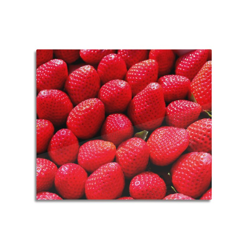 STRAWBERRIES Home Mounted Aluminum Print by THE ORANGE ZEROMAX STREET COUTURE