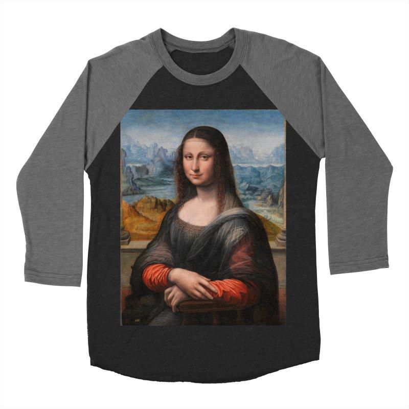 MONA LISA Women's Baseball Triblend Longsleeve T-Shirt by THE ORANGE ZEROMAX STREET COUTURE
