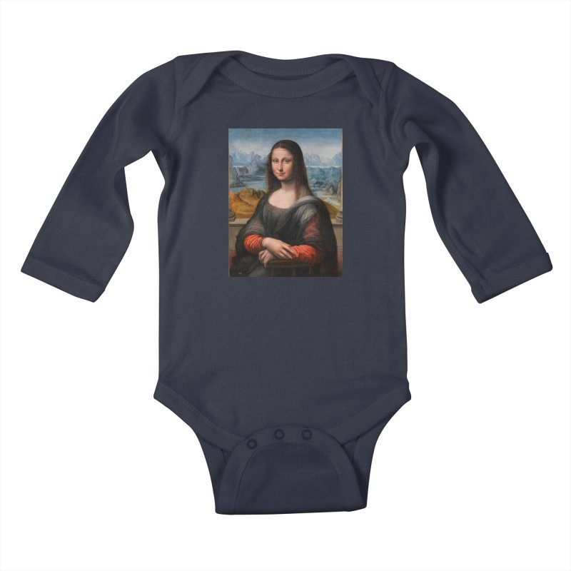 MONA LISA Kids Baby Longsleeve Bodysuit by THE ORANGE ZEROMAX STREET COUTURE
