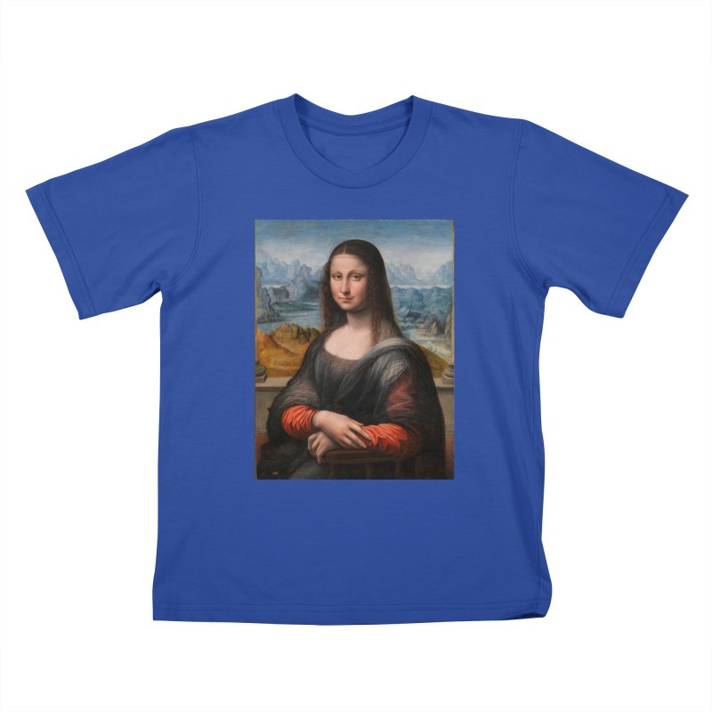 MONA LISA Kids T-Shirt by THE ORANGE ZEROMAX STREET COUTURE