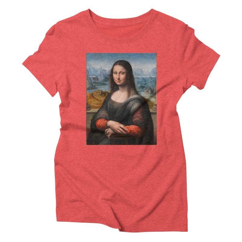 MONA LISA Women's Triblend T-Shirt by THE ORANGE ZEROMAX STREET COUTURE