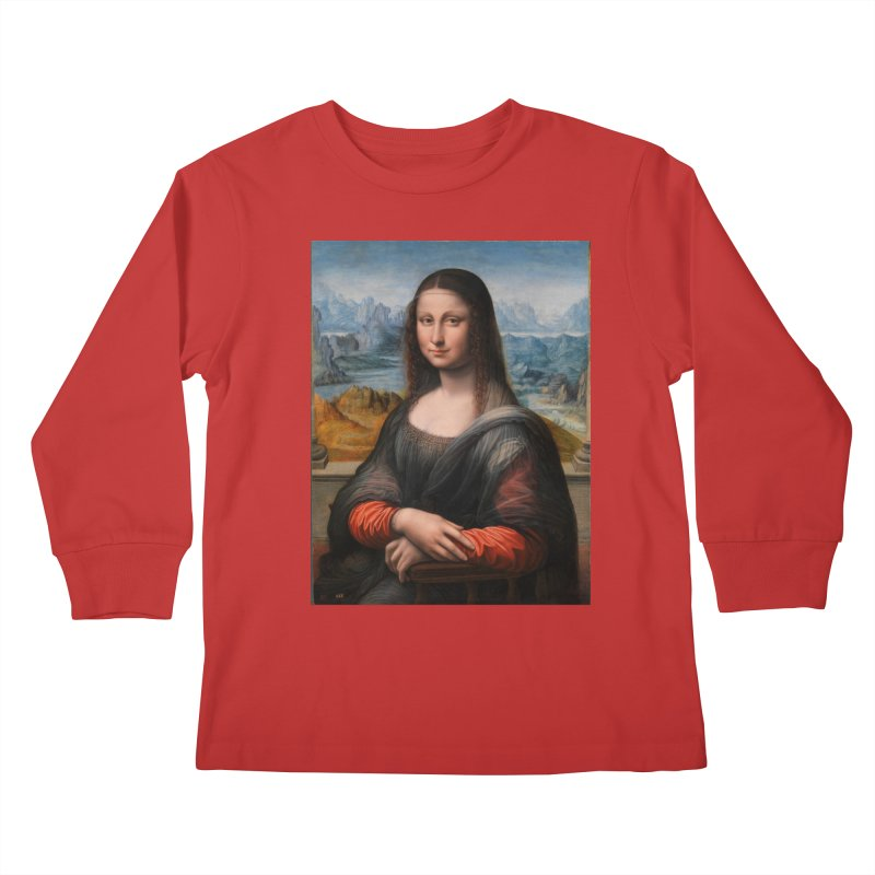 MONA LISA Kids Longsleeve T-Shirt by THE ORANGE ZEROMAX STREET COUTURE