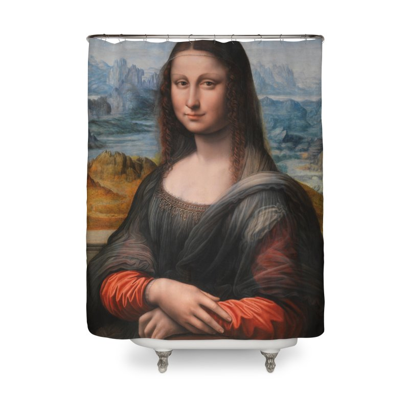 MONA LISA Home Shower Curtain by THE ORANGE ZEROMAX STREET COUTURE